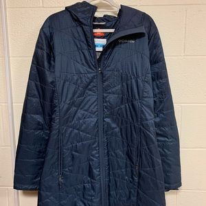 Zip up navy Columbia Jacket! Great for the cold!